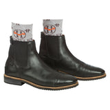 "Huntley Equestrian Logo 4"" Inch Coolmax Paddock Boot Socks"