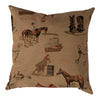 Huntley Equestrian Western Tapestry Decorative Pillow