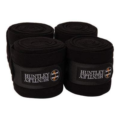 Huntley Equestrian Polo Fleece Wraps, Set of 4, Black