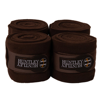 Huntley Equestrian Polo Fleece Wraps, Set of 4, Brown