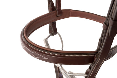 Huntley Equestrian Fancy Stitched Sedgwick Leather Padded Bridle with Reins - Huntley Equestrian