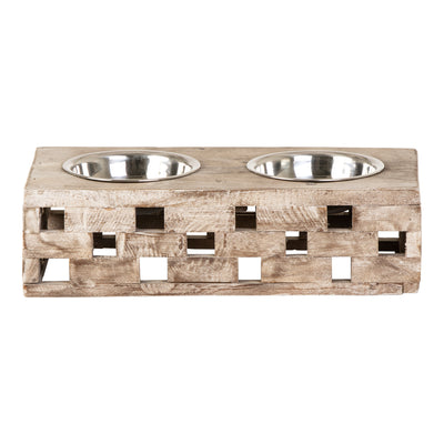 Huntley Pet Elevated Dog and Cat Double Bowl Feeder - Huntley Equestrian