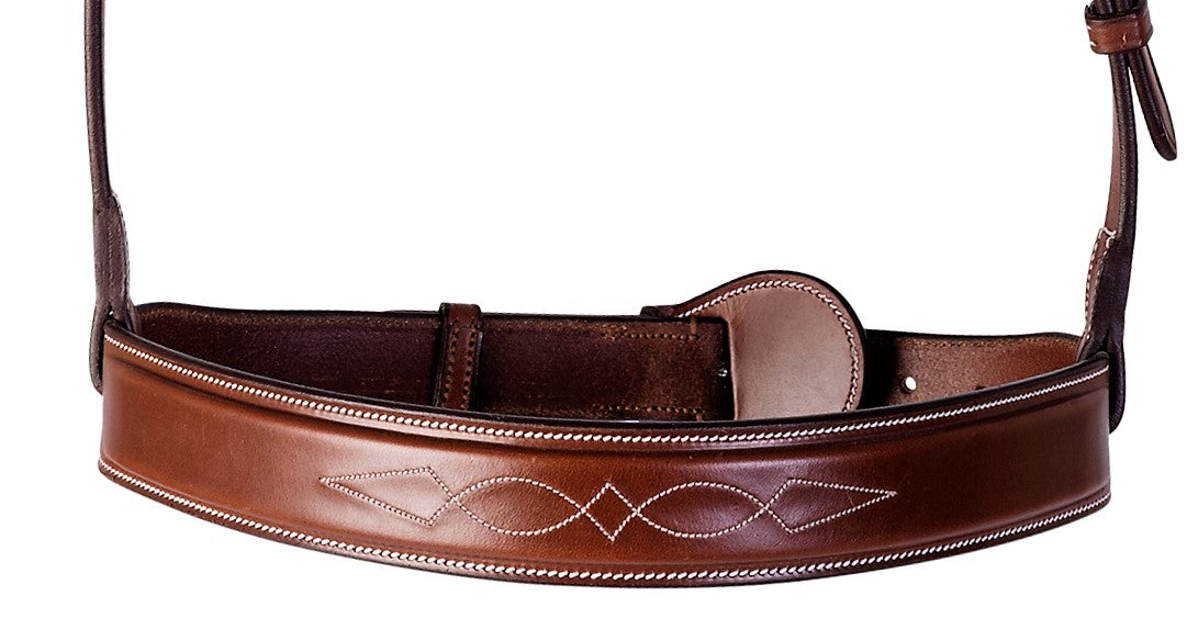 Huntley Fancy Stitched Noseband