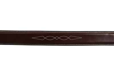 "Huntley Equestrian Fancy Stitched Square Raised Noseband, 1 3/8"" Inch wide. Noseband only."