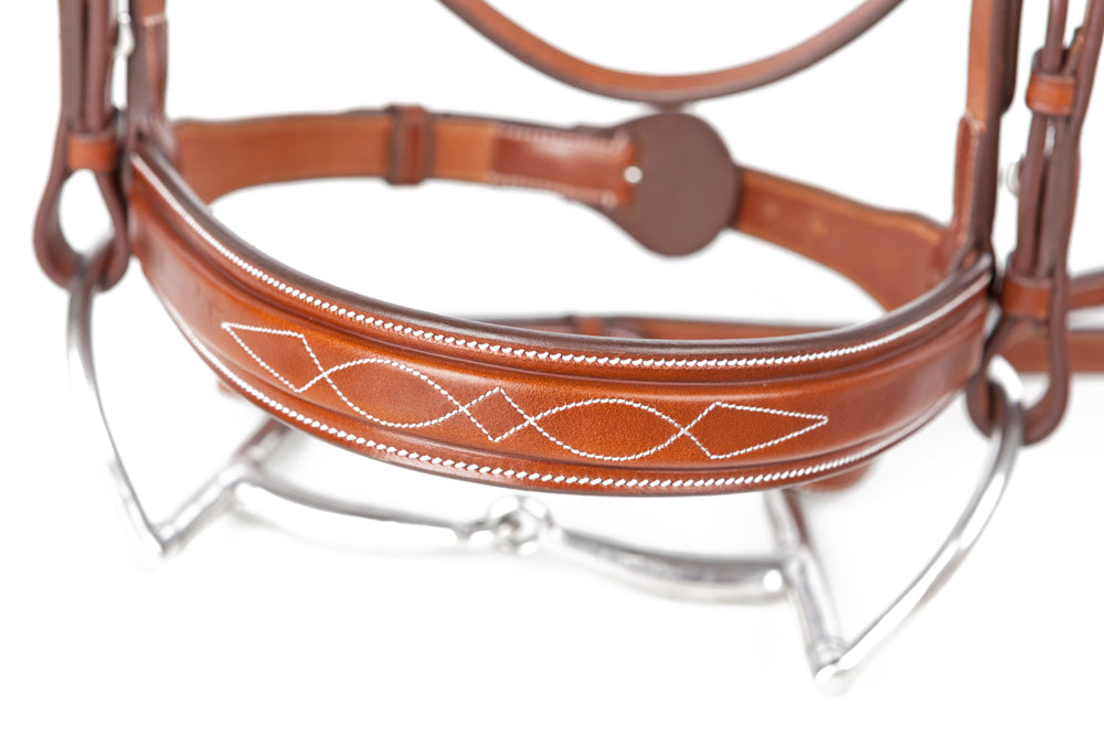 Huntley Equestrian Sedgwick Fancy Stitched Square Raised Noseband - Huntley Equestrian