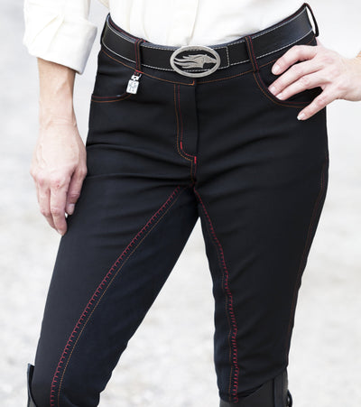 Huntley Equestrian Black Full Seat Riding Pant With Sequined Back pockets SPORTING_GOODS Huntley Equestrian