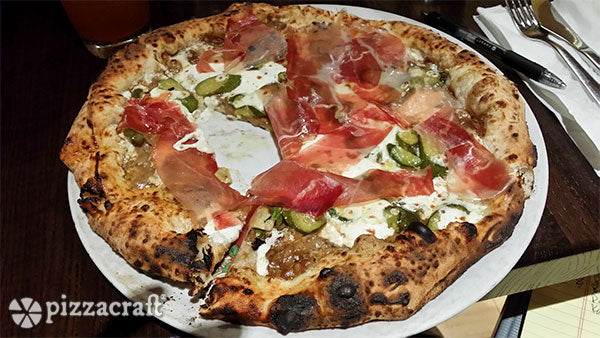 New York City Pizza with Prosciutto