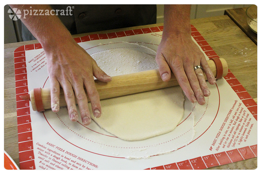 Rolling Dough for Calzones