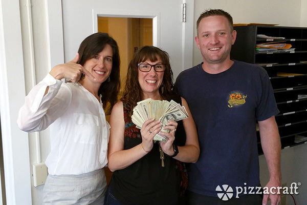 Presenting Pizzafest Donation to BOSS