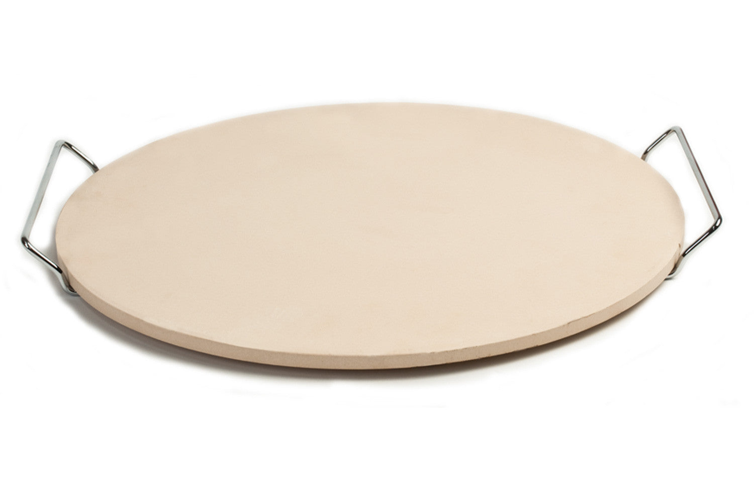 PC0002 15/' x 12.1/' Rectangle Ceramic Baking//Pizza Stone with Wire Frame handle