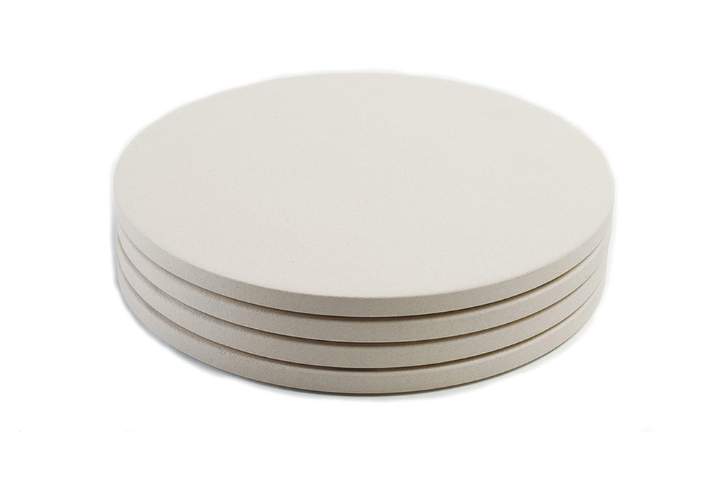 "Set of Four 8"" Ceramic Mini Pizza Stones"