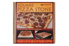 "15"" Square Cordierite Pizza Stone Packaging"