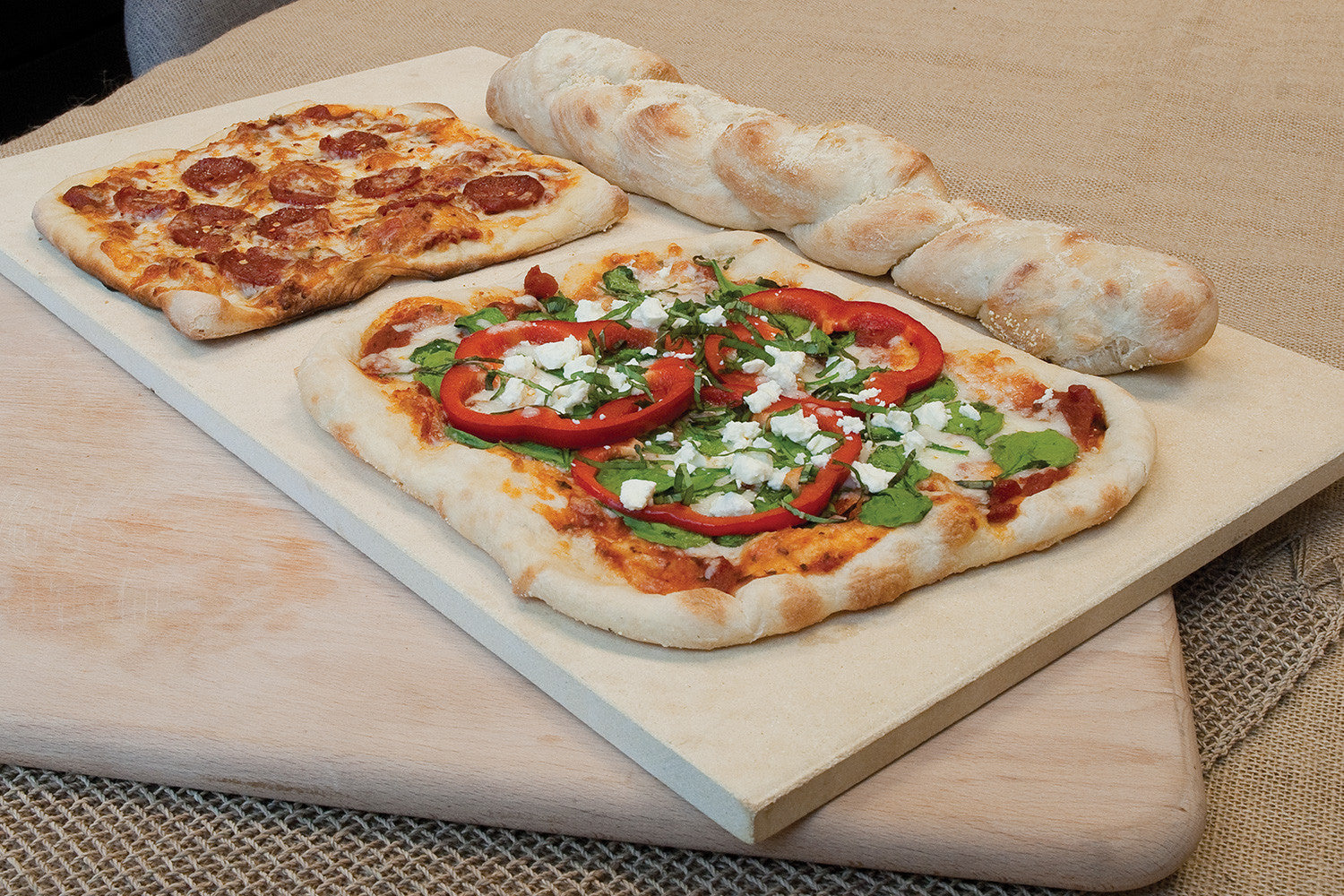 Rectangle Pizza Stones : Quot rectangular thermabond™ pizza stone pizzacraft