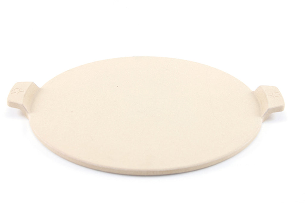 "14.5"" Round Cordierite Pizza Stone with Handles"