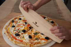 Wood Rocking Pizza Cutter