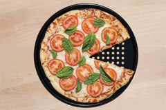 "13"" Nonstick Pizza Screen with Pizza"