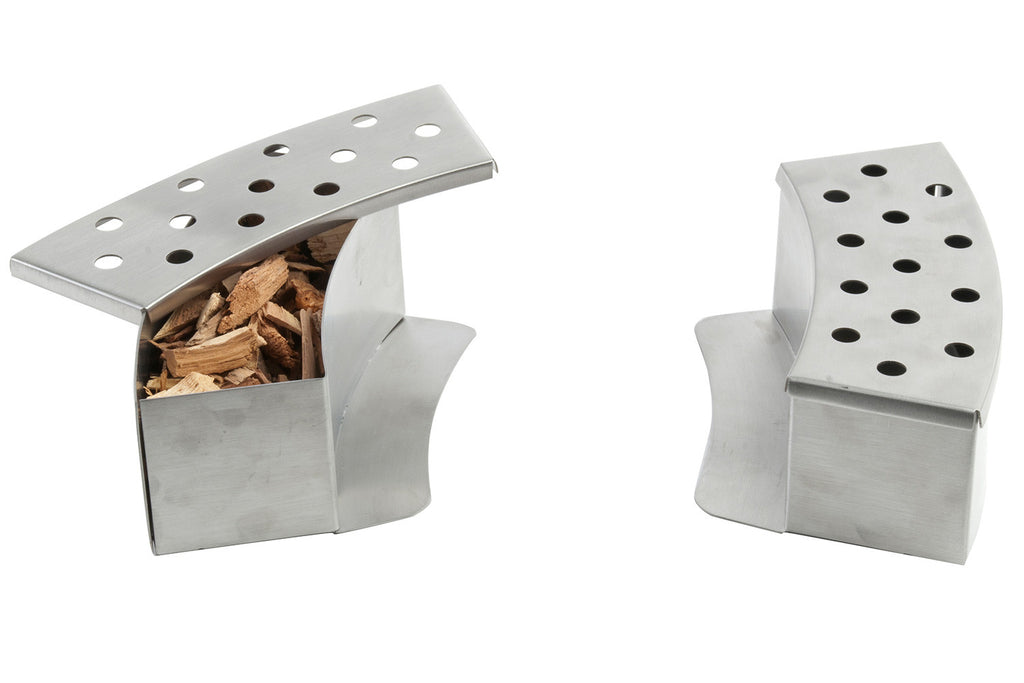 2PC Curved Smoker Boxes with Wood Chips