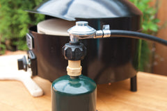 Using the Pizza Oven Adapter with a 1 lb. Propane Tank