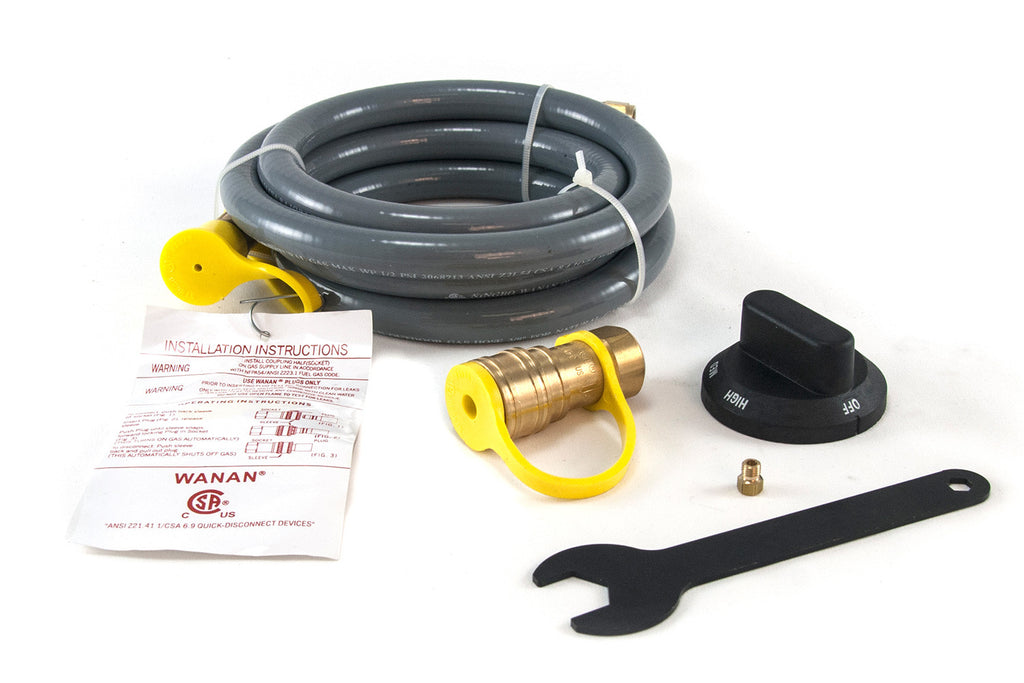 Components to the Pizza Oven Natural Gas Conversion Kit