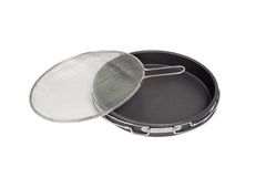 Aluminum Deep Dish Pan & Splatter Screen