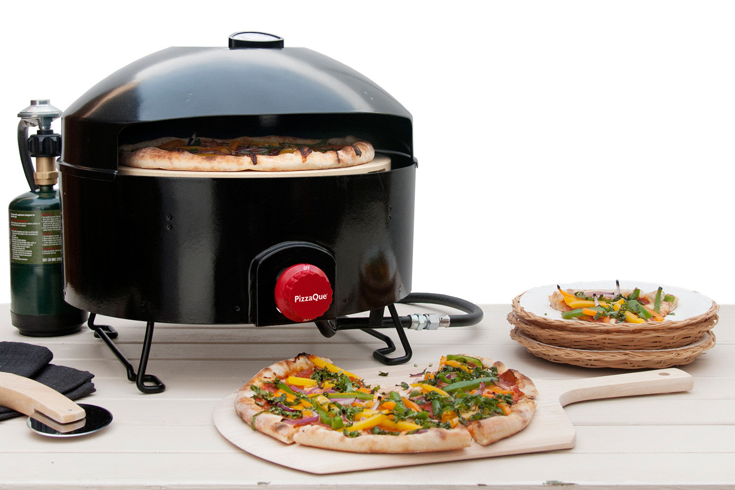 PizzaQue Portable Pizza Oven; Finished Pizzas with a PizzaQue Portable Pizza  Oven ...