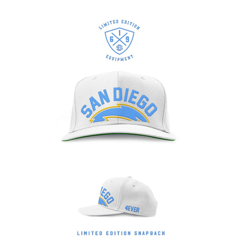 1990 San Diego Forever White / Powder Blue  SnapBack (Limited Release)