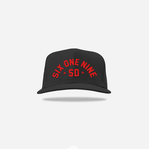 Six One Nine Snapback - Red/Blk