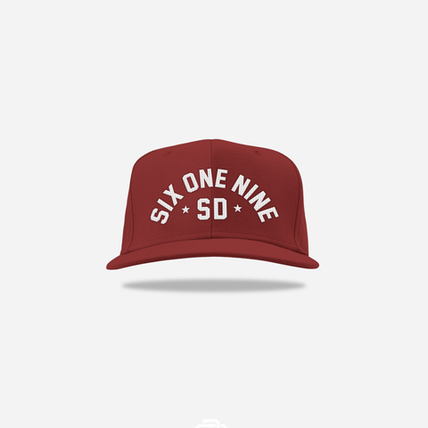 Six One Nine Snapback - Maroon