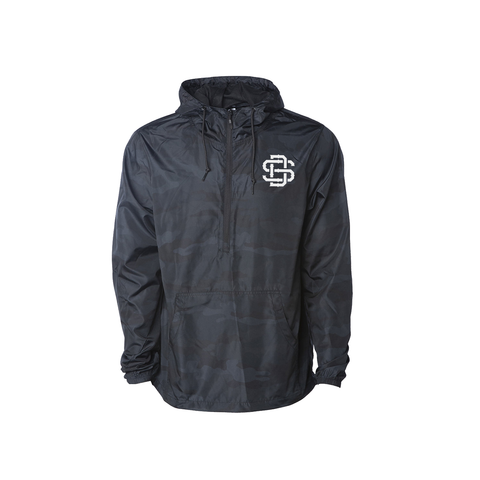 Premium Black Camo SD Windbreaker Pullover Jacket