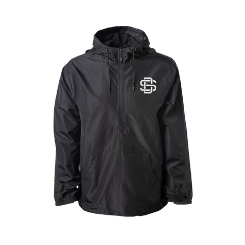 Premium Black SD Windbreaker Pullover Jacket