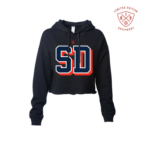 98 SD Ladies Crop Hoodie - Black  (Instock)