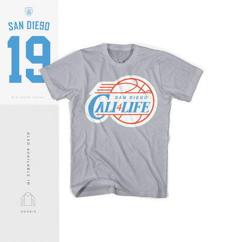 Cali4Life Silver Tee (Limited Pre-Order)