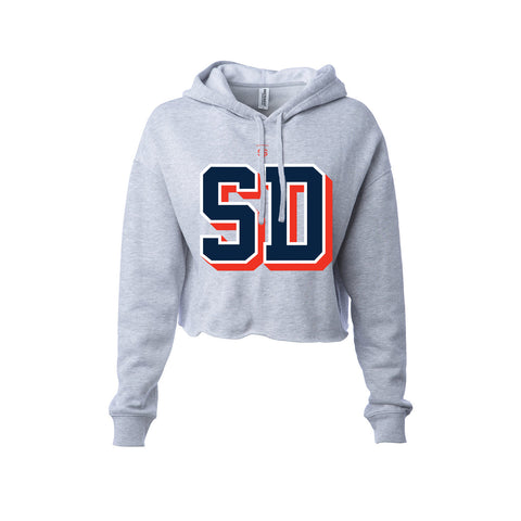 98 SD Ladies Crop Hoodie - Heather  (Pre-Draft)