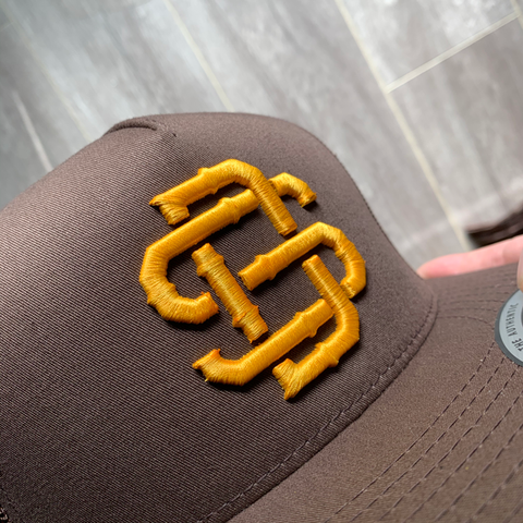 SD Brown & Gold Trucker Mesh Snapback
