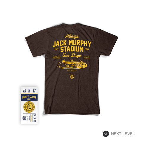 Last At Bat -Jack Murphy Stadium Premium Tee (Brown)