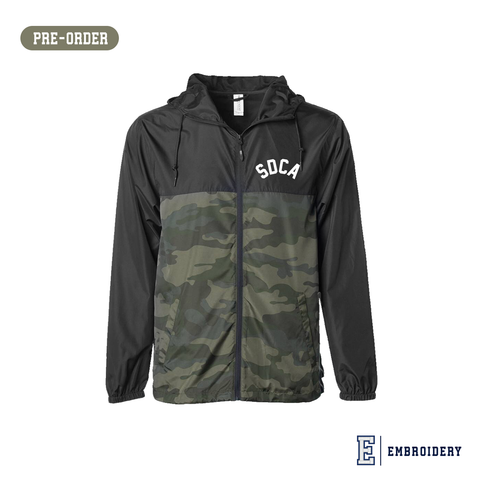 SDCA Zipper Blk Camo Windbreaker