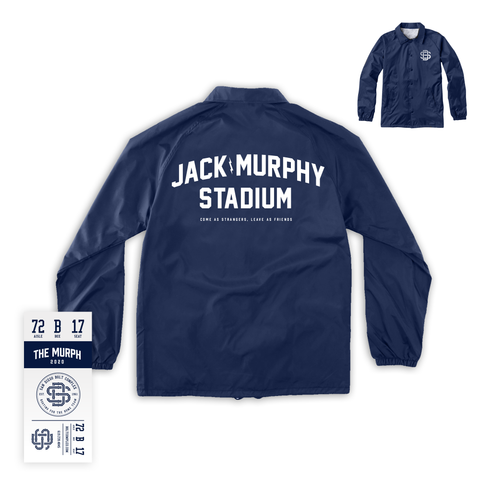 The Murph - Coaches Jacket (White Ink)