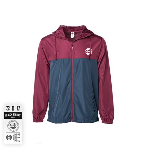 SD17 Windbreaker - Maroon Navy