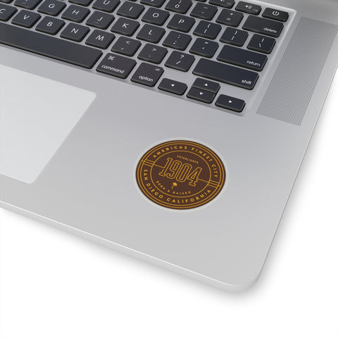 1904 Brown & Gold Circle Sticker