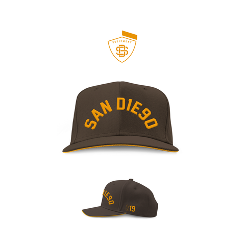 SDCA19 Brown & Gold Trucker Mesh Snapback