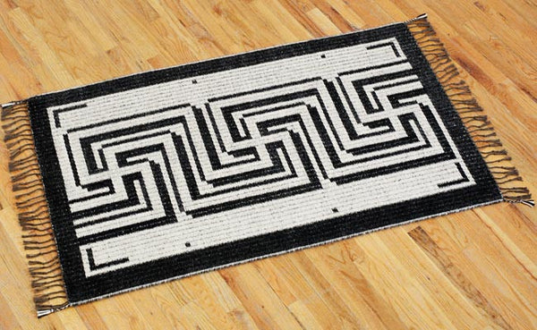 Handwoven Rug - Greek Key