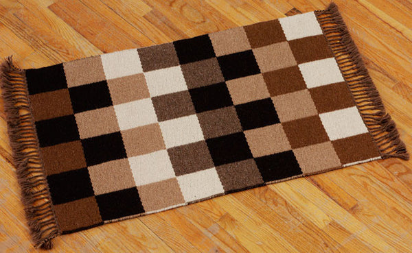 Handwoven Rug - Checkerboard