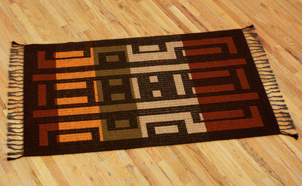 Handwoven Rug - Mystic Faces