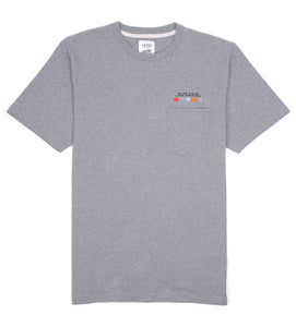 Laser Barcelona x Deluxe Cycles - CITY FLAGS WOVEN POCKET TEE  - GREY