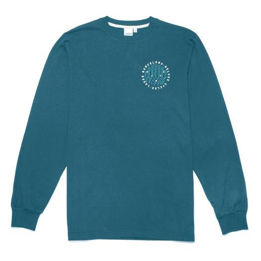 Laser Barcelona x Deluxe Cycles - HUDSON ROUND LONGSLEEVE (PETROL GREEN)