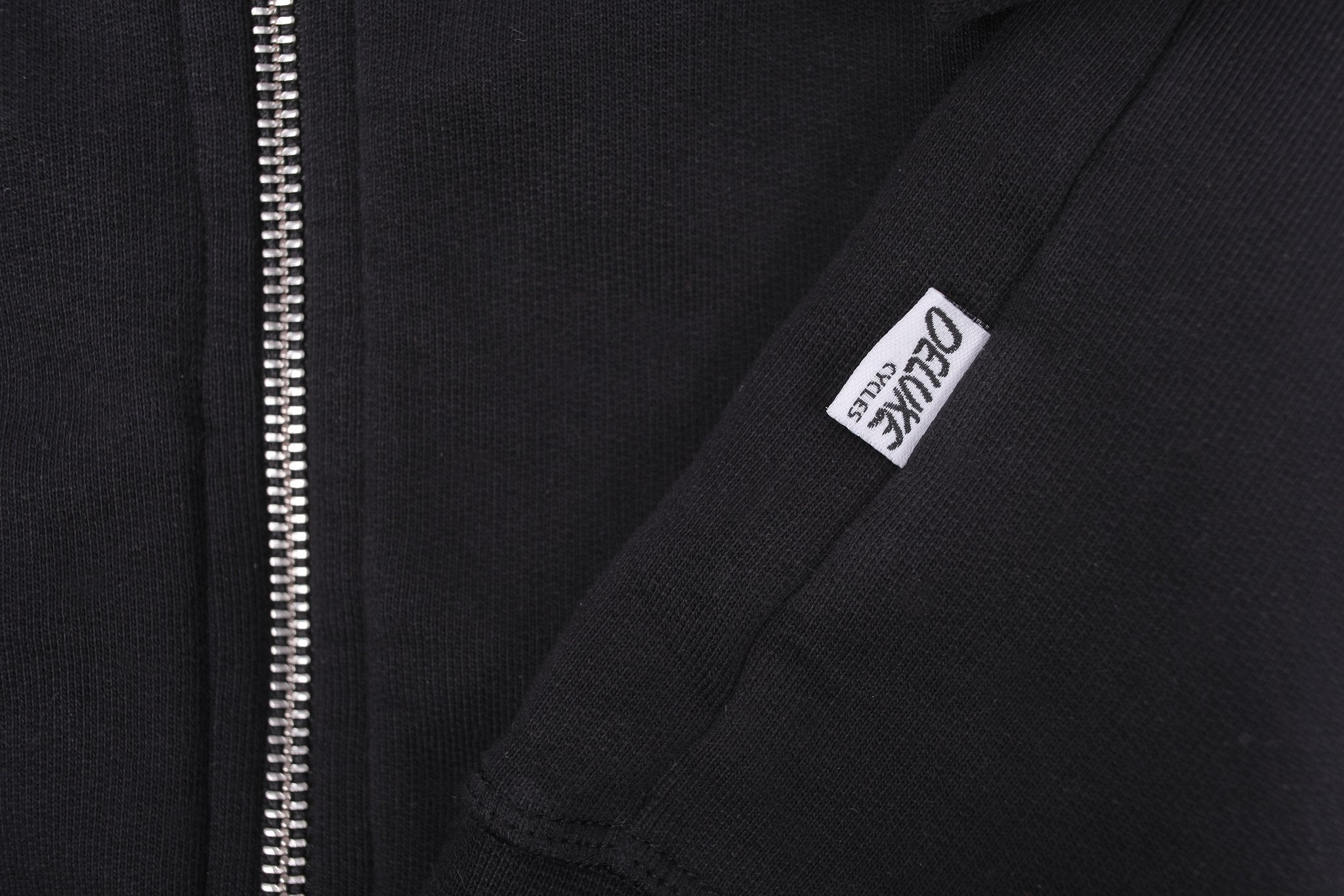 Laser Barcelona x Deluxe Cycles - NYC TO BCN ZIP HOODIE - BLACK