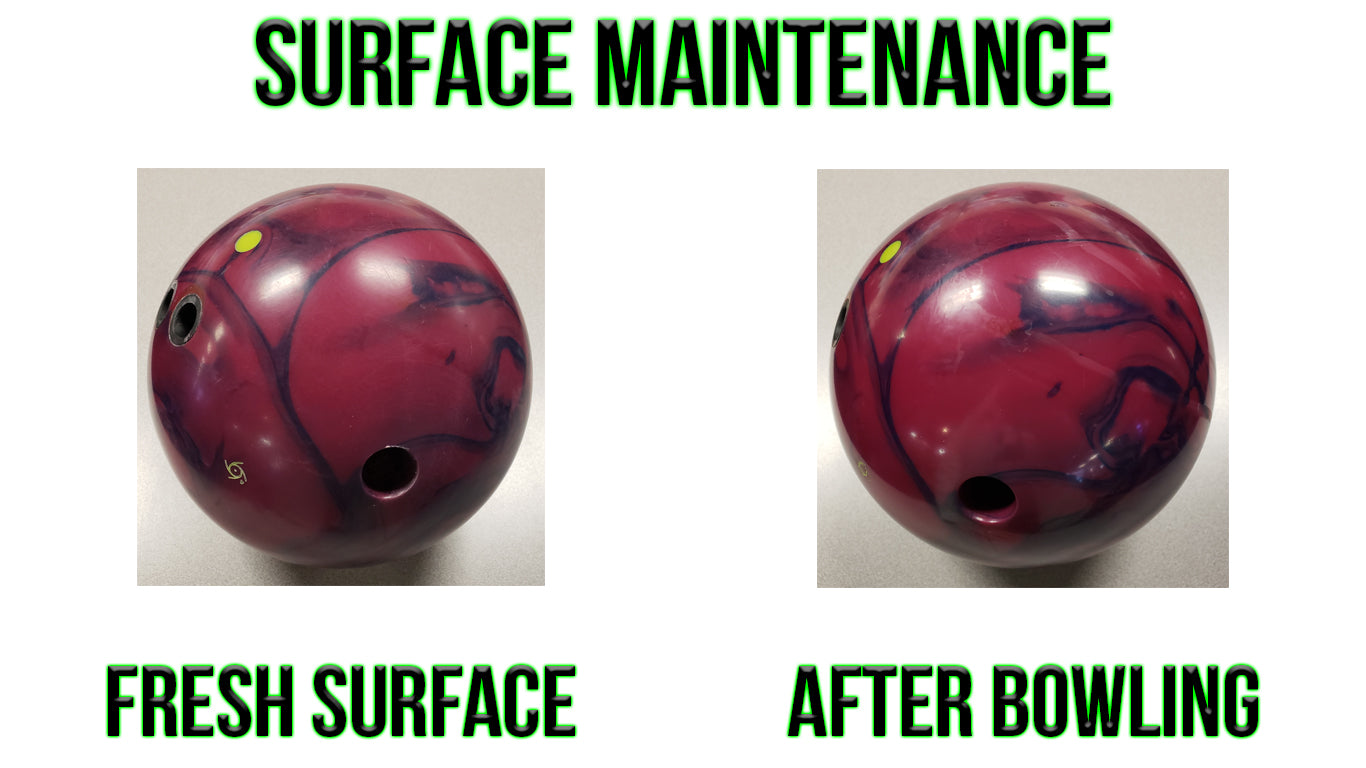 Before and After Bowling Surface Maintenance