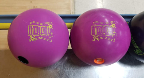 New Bowling Ball vs Bowling Ball with Lane Shine