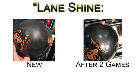 Lane Shine on a New Bowling Ball