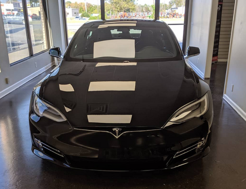 Tesla with PPF and Ceramic Coating